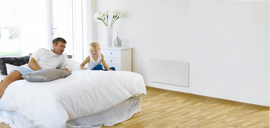 מערכת חימום אינפרא אדום לחדר שינה.
