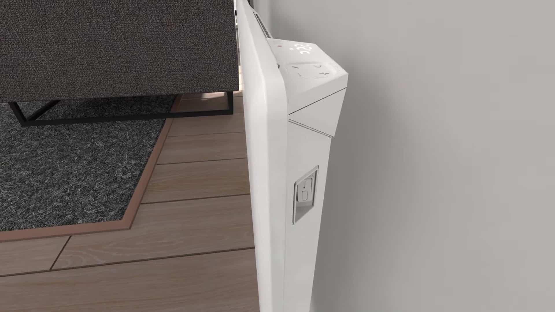 Clip On glass for Nobø panelovner med topputslipp_Momentgg